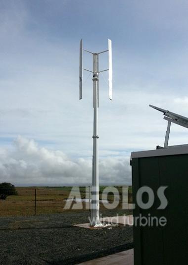Spain 3kw Vertical Wind Turbine Aeolos Wind Energy