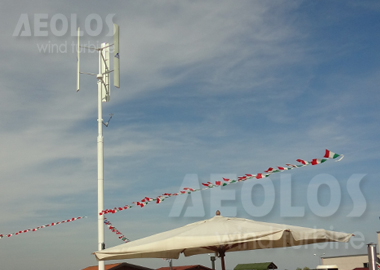 Aeolos V 1kw Vertical Axis Wind Turbine In Italy