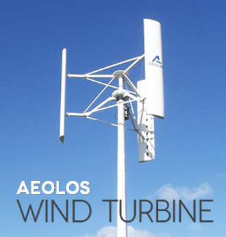 Aeolos Vertical Axis Wind Turbine - 300w to 10kw Vertical Wind
