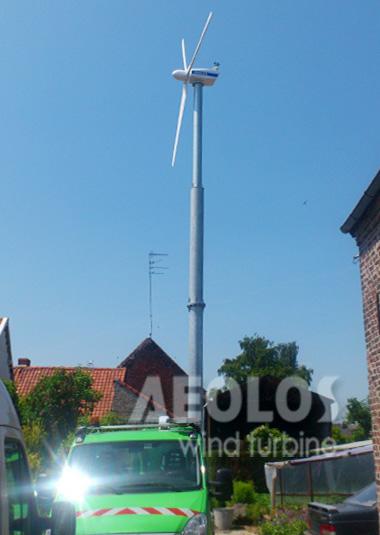 Belgium 3000W Wind Turbine - Aeolos Wind Energy