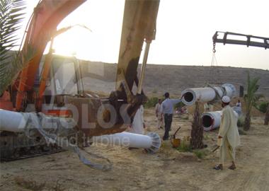 Pakistan 2x20kW Wind Turbine in Karachi - Aeolos Wind Turbine